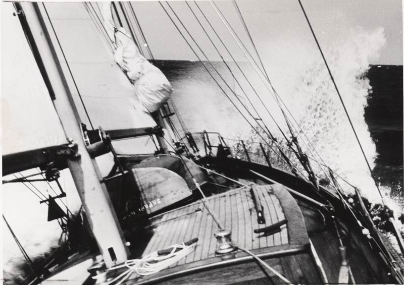 """Spreizgaffelketch Safari 1960 fotografiert von """"der Yacht"""""""