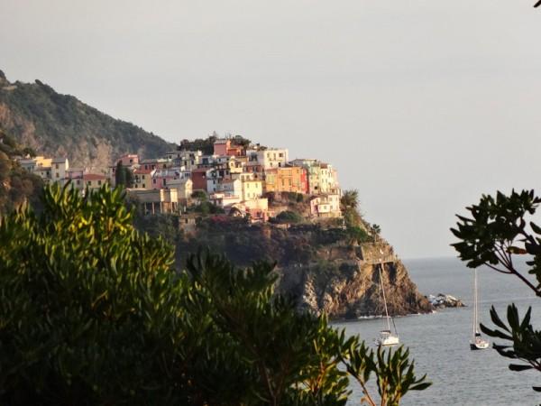 Ankerplatz an der Küste der Cinque Terre