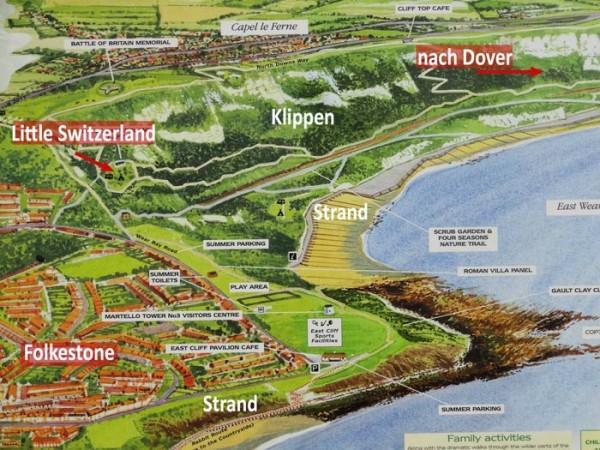 Cliffs zwischen Folkestone und Dover