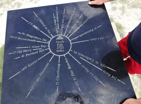 Wegweiser auf Tennysons Monument