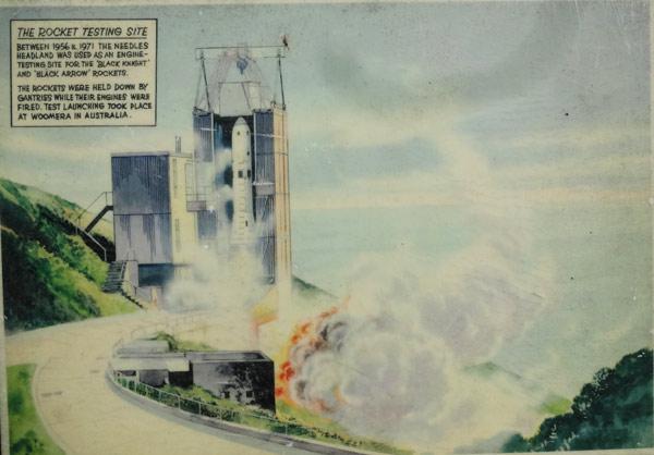 Abschuß der englischen Rakete