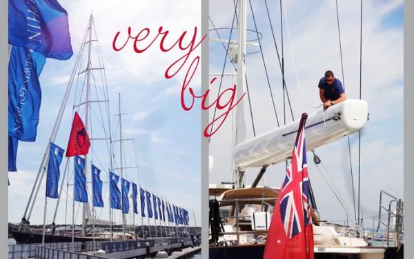 Englische Superyacht auf der Isle of Wight