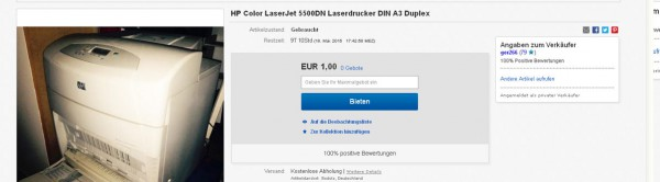 HP Color Laserdrucker 5500dn