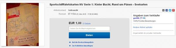 Seekarten Serie 1 NV-Verlag