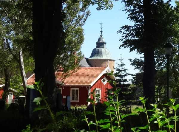 Blick vom alten Friedhof zur Gärtnerei