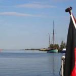 Idyllischer gehts nicht - unser Hafenplatz in Mönsteras