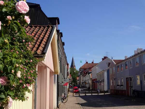 Straße in Västervik