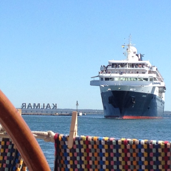 Kreuzfahrtschiff in Kalmar