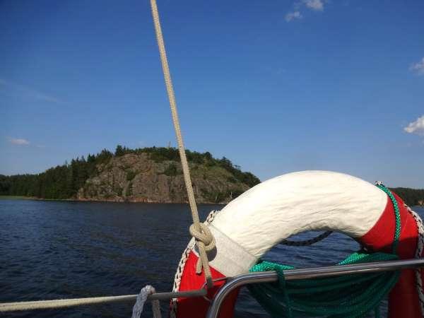 Fahrt in den Fjord von Valdemarsvik