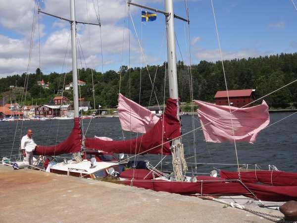 Wäsche trocknen in Valdemarsvik