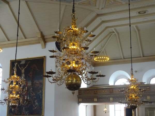 Üppige Leuchter von wohlhabenden Kaufleuten in Karlshamn