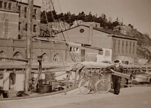 Immer Arbeit am alten HAndelshafen Karlshamn